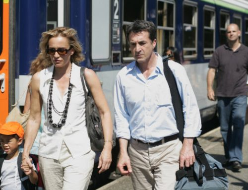 From the French movie TELL NO ONE. The actors are Kristin Scott Thomas (left) and Francois Cluzet. Harlan is following them in this scene.