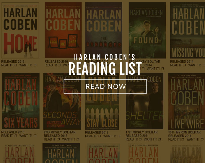 Harlan Coben Reading List